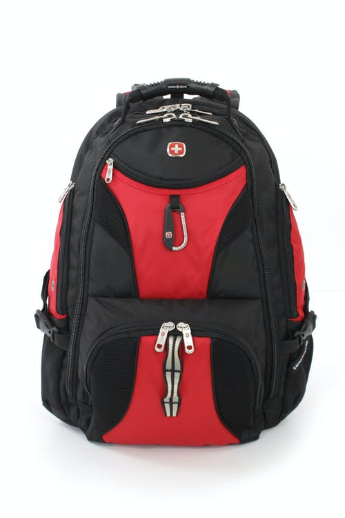 SWISSGEAR 1900 ScanSmart TSA Laptop Backpack - Black/Red