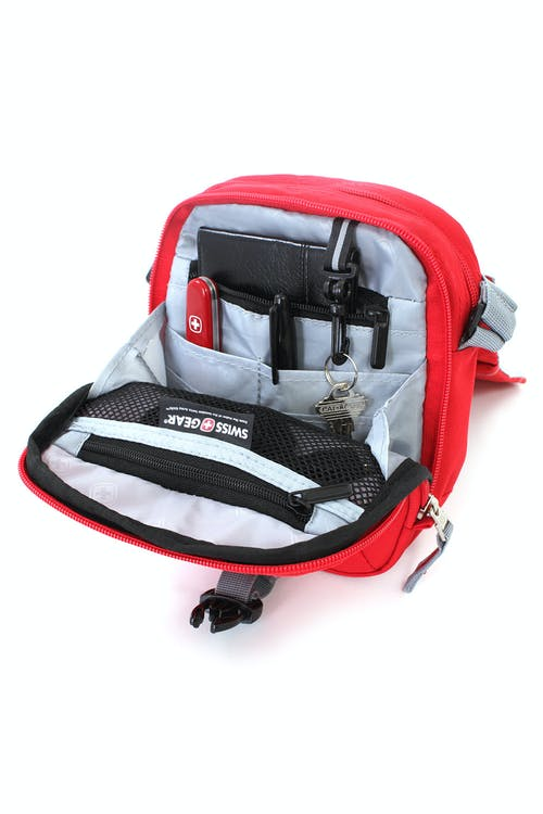 SWISSGEAR 2310 MINI FLAP BAG FULL ORGANIZER COMPARTMENT