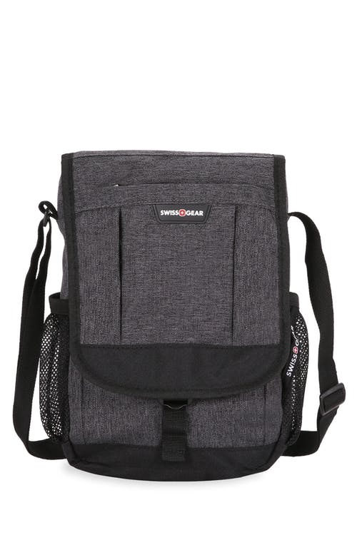 Swissgear  2365 Vertical Travel Bag front zippered pouch and the side mesh pockets