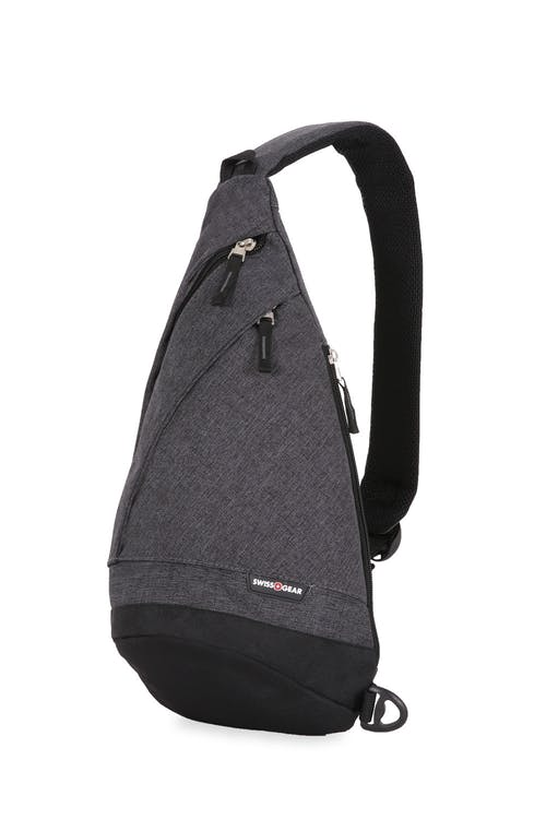 Swissgear 2613 Heather Monosling Bag - Gray Heather/Black