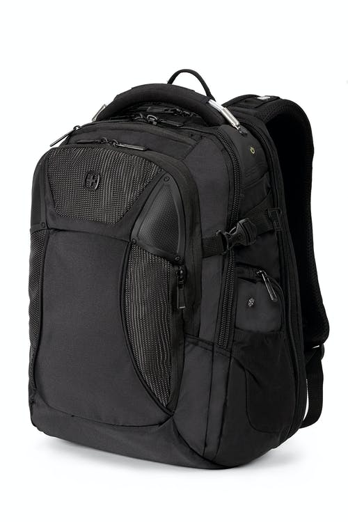 swissgear 2700 usb scansmart backpack with led light black with white dots