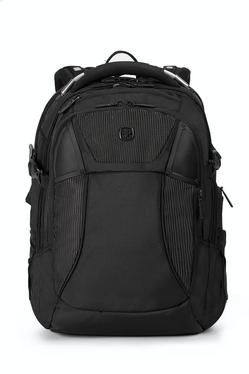 swissgear 2700 usb scansmart laptop backpack with led light black with white dots
