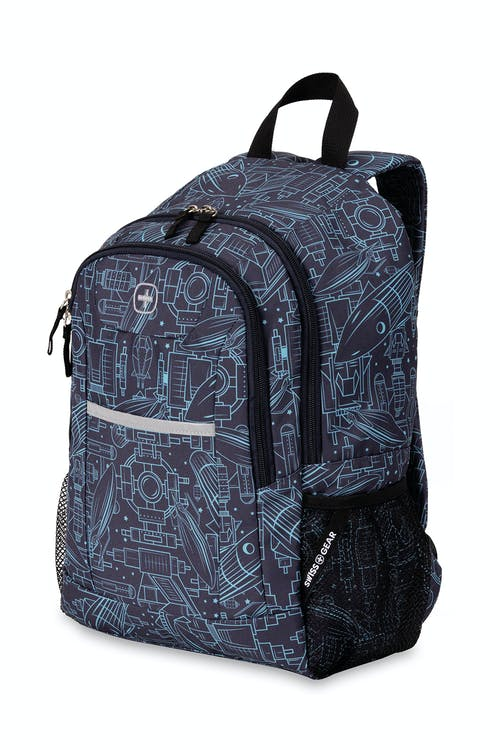 Swissgear 2859 Youth Backpack - Spacecraft Satin Noir Print