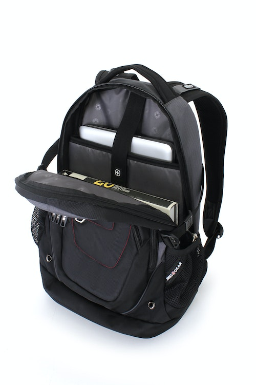 SWISSGEAR 3116 DELUXE LAPTOP BACKPACK LARGE-OPENING ZIPPERED COMPARTMENT