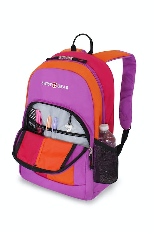 SWISSGEAR 3158 BACKPACK FRONT QUICK-ACCESS COMPARTMENT WITH MINI ORGANIZER COMPARTMENT