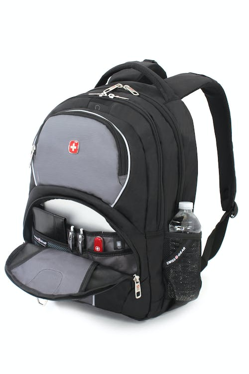 SWISSGEAR 3188 LAPTOP BACKPACK ORGANIZER COMPARTMENT AND SIDE WATER BOTTLE POCKETS