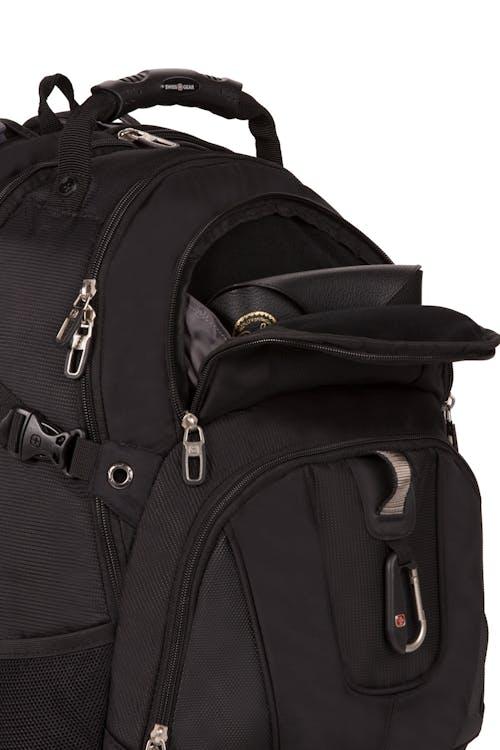 SWISSGEAR 3239 ScanSmart Backpack - Top fleece-lined zippered compartment