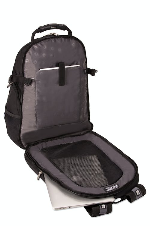 SWISSGEAR 3239 ScanSmart Backpack - Lay-flat ScanSmart compartment w/ padded tablet sleeve