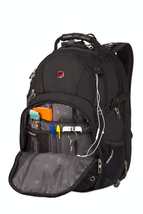 SWISSGEAR 3239 ScanSmart Backpack - Organizer compartment w/ key ring, mesh pocket and multiple divided pockets