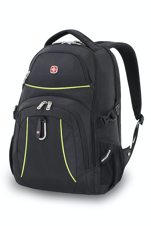 WISSGEAR 3255 SCANSMART LAPTOP BACKPACK - BLACK/LIME