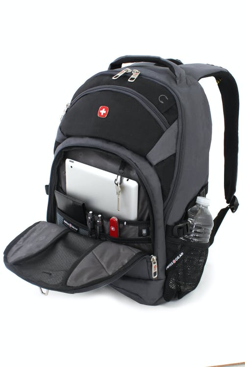 SWISSGEAR 3265 LAPTOP BACKPACK QUICK-ACCESS FRONT ZIPPERED MEDIA POCKET