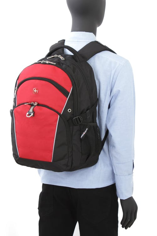 SWISSGEAR 3272 LAPTOP BACKPACK HEAVILY PADDED AIRFLOW BACK PANEL WITH ERGONOMICALLY SHAPED SHOULDER STRAPS