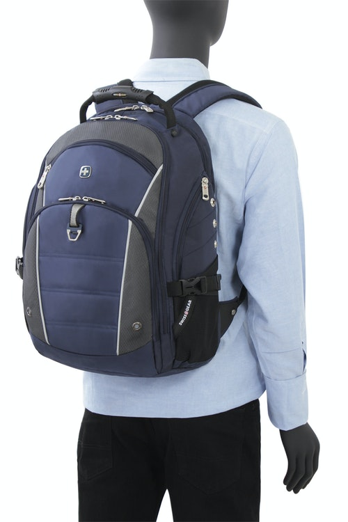 SWISSGEAR 3295 DELUXE LAPTOP BACKPACK ERGONOMICALLY CONTOURED PADDED SHOULDER STRAPS