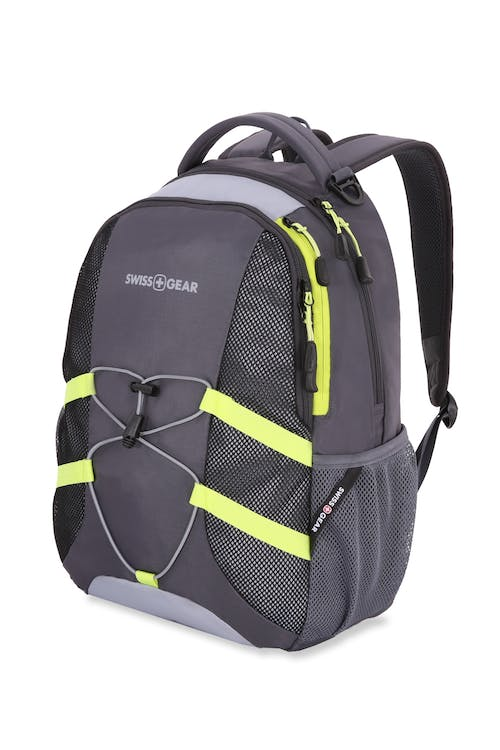 Swissgear 3517 Laptop Backpack - Cement Gray/L Gray/Pluto Lime