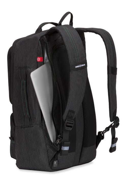 "Swissgear 3575 Laptop Backpack - Side, zippered laptop panel that fits most 15"" laptops"