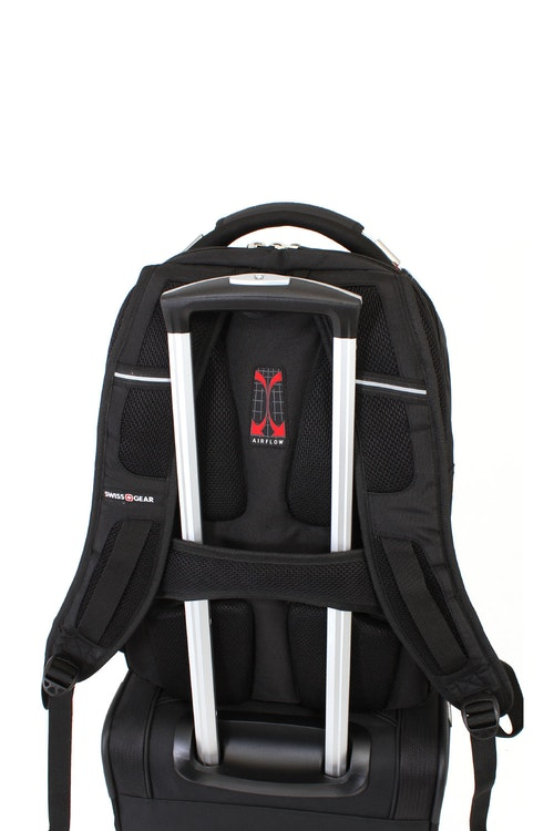 SWISSGEAR 5312 Scansmart Backpack padded, airflow back panel with built-in add-a-bag panel