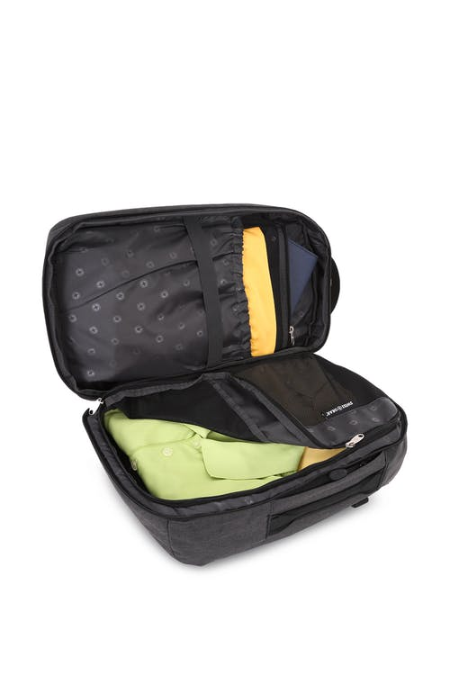 Swissgear 5337 Suitcase Backpack Main compartment features garment compartment
