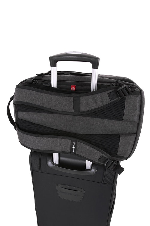Swissgear 5337 Suitcase Backpack Back panel add-a-bag feature