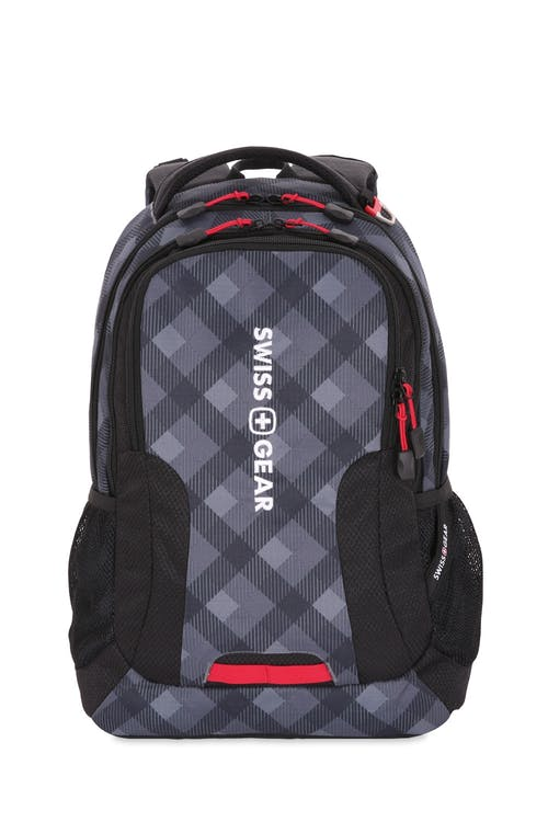 Swissgear 5503 Backpack - Plaid Print/Black Cod/Swiss Red