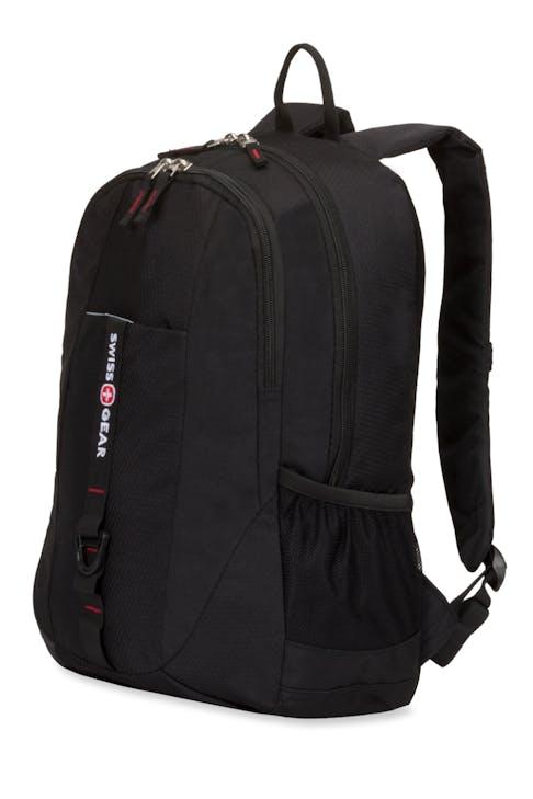 SWISSGEAR 6639 BACKPACK - BLACK COD/SWISS RED