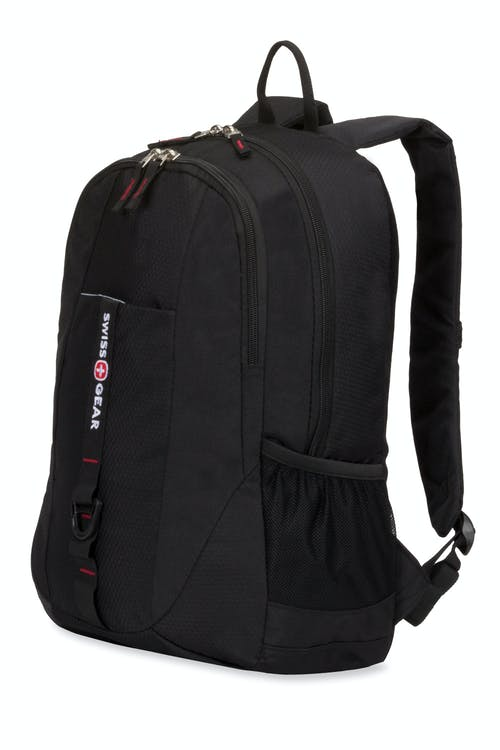 Swissgear 6639 Tablet Backpack - Black Cod/Swiss Red