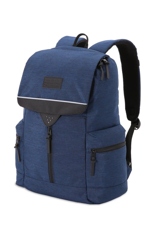 SWISSGEAR 5753 Laptop Backpack - Blue Heather/Black