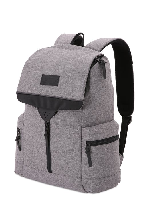 SWISSGEAR 5753 Laptop Backpack - Dark Gray Heather/Black