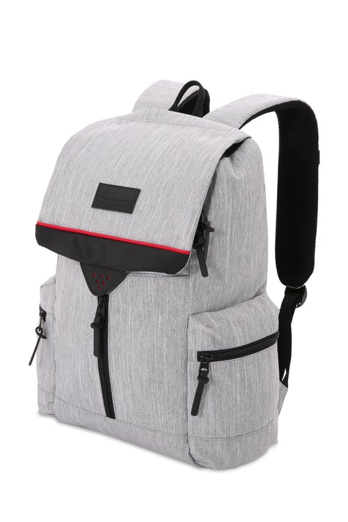 SWISSGEAR 5753 Laptop Backpack - Light Gray Heather/Black