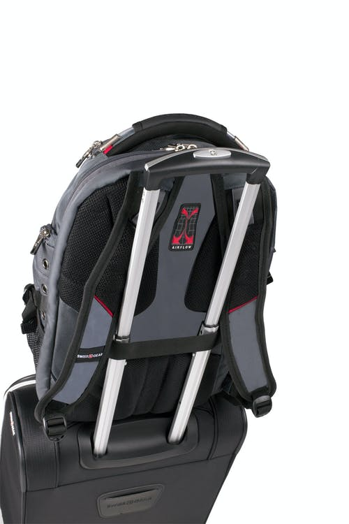 SWISSGEAR 5863 ScanSmart Backpack Add-a-bag trolley strap