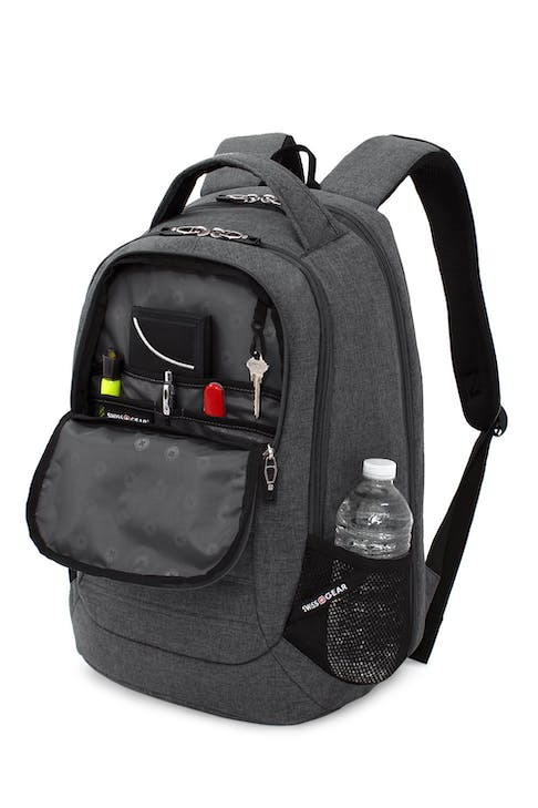 SWISSGEAR 5888 Scansmart Backpack Organizer compartment with key fob and multiple divider pockets
