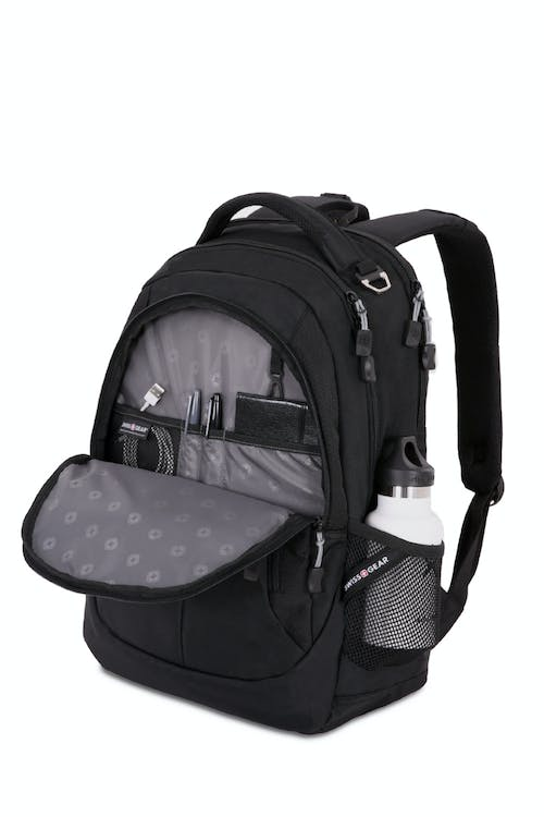 Swissgear 5965 Laptop Backpack Organizer compartment with key fob and multiple divider pockets