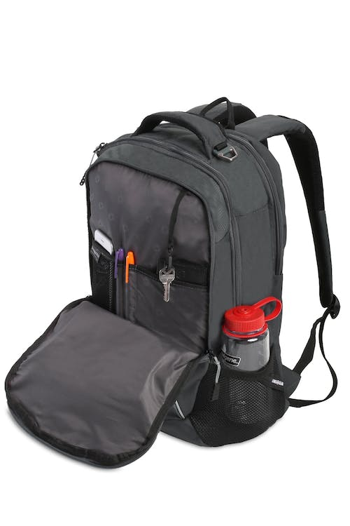 SWISSGEAR 5970 Laptop Backpack Organizer compartment with key fob and multiple divider pockets