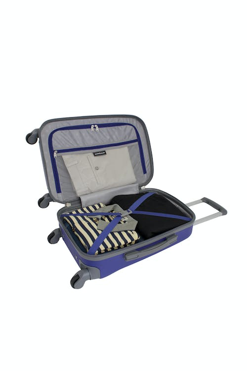 """SWISSGEAR 6072 19"""" HARDSIDE SPINNER LUGGAGE CLOTHING TIE-DOWN STRAPS"""