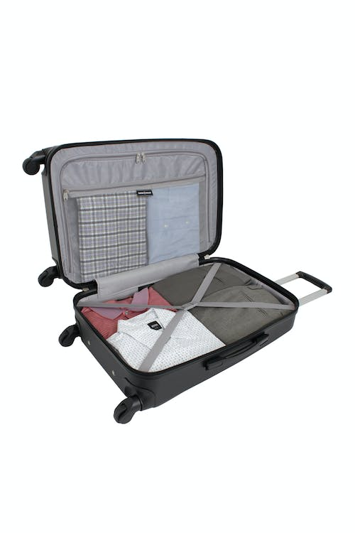 """SWISSGEAR 6072 24"""" HARDSIDE SPINNER  LUGGAGE CLOTHING TIE-DOWN STRAPS"""