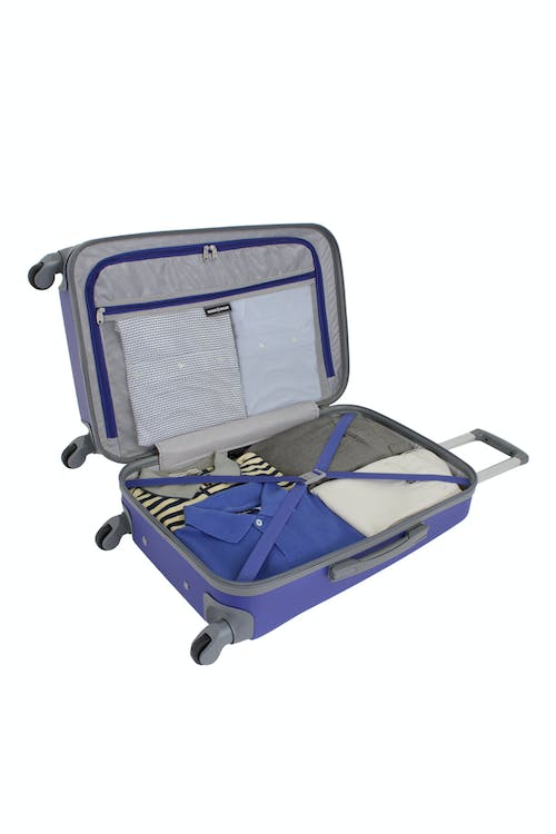 """SWISSGEAR 6072 23"""" HARDSIDE SPINNER LUGGAGE CLOTHING TIE-DOWN STRAPS"""