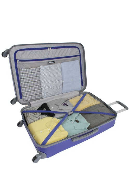 """SWISSGEAR 6072 28"""" HARDSIDE SPINNER LUGGAGE CLOTHING TIE-DOWN STRAPS"""