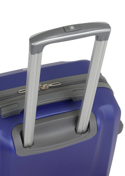 Swissgear 6072 Hardside Spinner Luggage Aluminum, push-button locking telescopic handle
