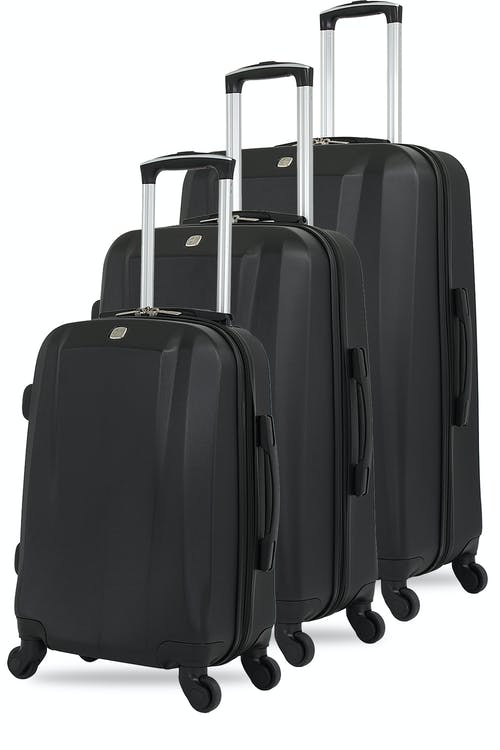Swissgear 6072 Hardside Spinner Luggage 3pc Set - Black