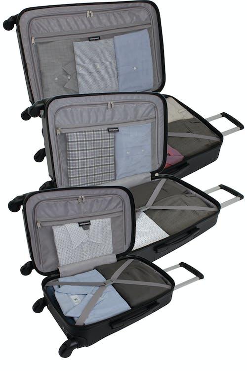 SWISSGEAR 6072 Hardside Spinner Luggage 3pc Set - Open View