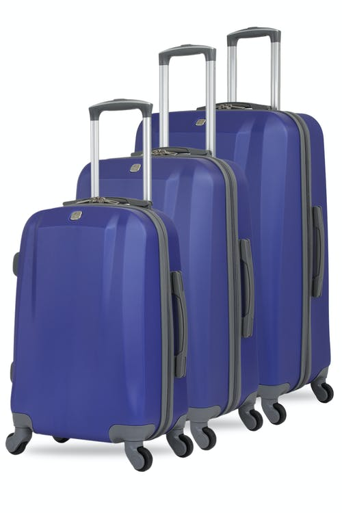 Swissgear 6072 3pc Hardside Spinner Luggage Set - Blue