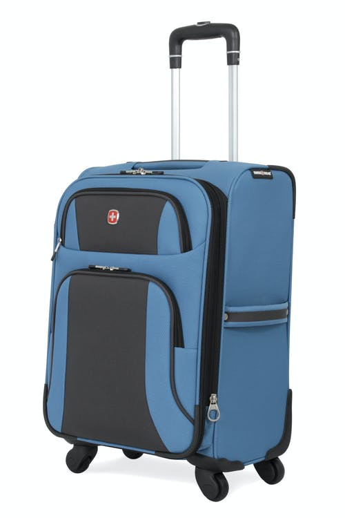 """SWISSGEAR 6110 20"""" Expandable Carry-On Spinner Luggage - Blue/Black"""