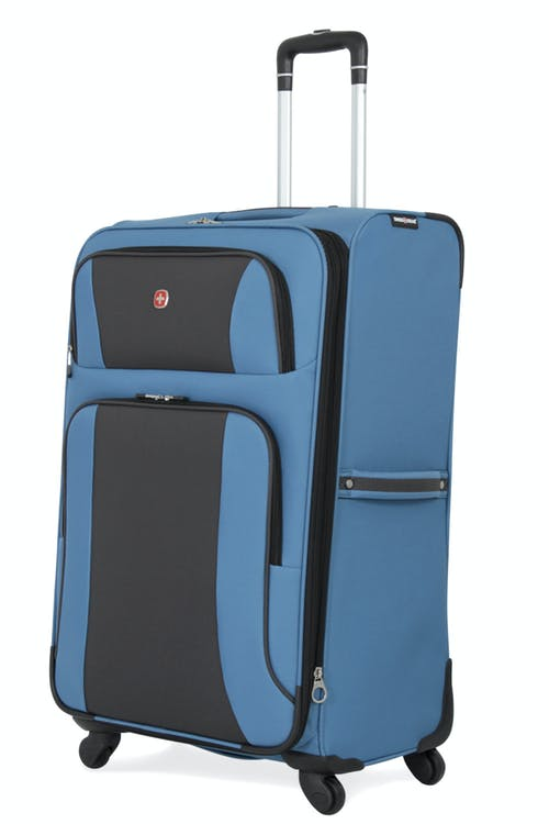"Swissgear 6110 28"" Expandable Liteweight Spinner Luggage - Blue/Black"