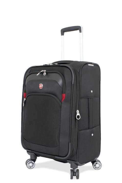 "SWISSGEAR 6126 20"" Expandable Deluxe Carry-On Spinner Luggage - Black"
