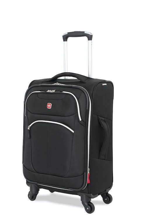 "Swissgear 6133 20"" Expandable Liteweight Carry On Spinner Luggage - Black"