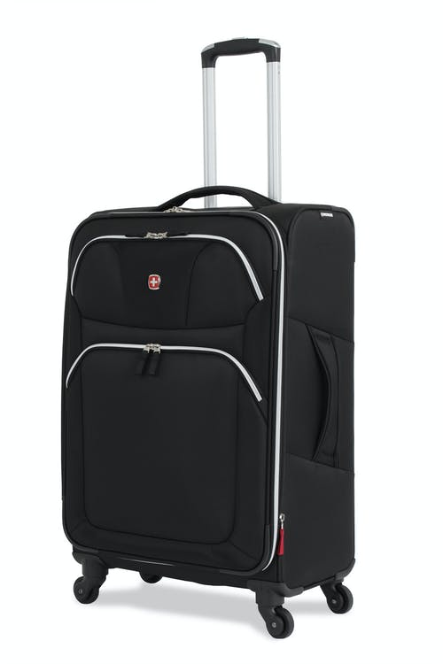"SWISSGEAR 6133 24"" LITEWEIGHT SPINNER LUGGAGE - BLACK"