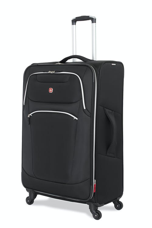 "Swissgear 6133 28"" Expandable Liteweight Spinner Luggage - Black"