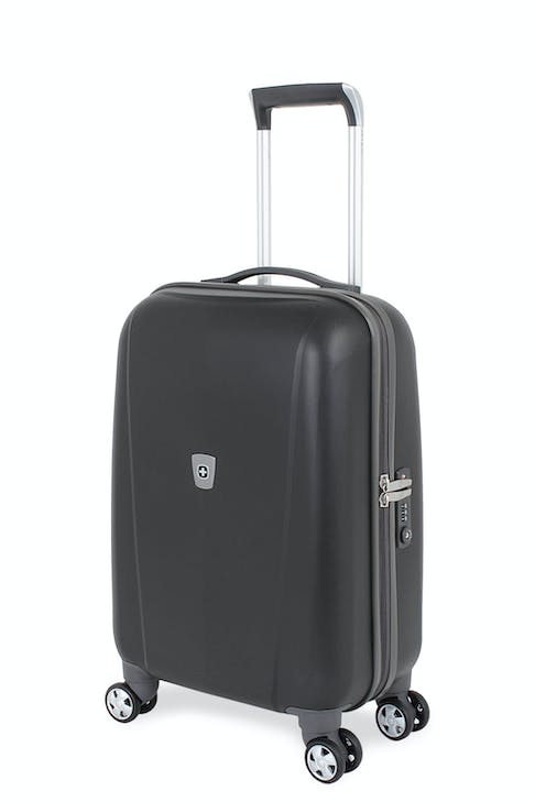 "SWISSGEAR 6150 20"" HARDSIDE CARRY-ON SPINNER LUGGAGE - BLACK"