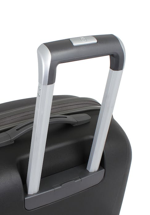 "SWISSGEAR 6150 20"" HARDSIDE CARRY-ON SPINNER LUGGAGE ALUMINUM TELESCOPING LOCKING PULL HANDLE"