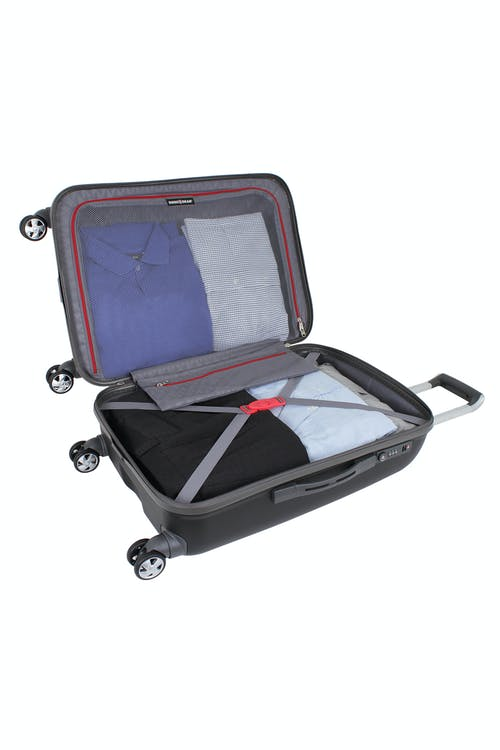 """SWISSGEAR 6150 24"""" HARDSIDE SPINNER LUGGAGE ADJUSTABLE CLOTHING TIE-DOWN STRAPS"""