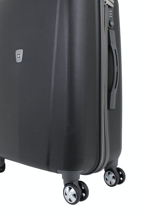 "SWISSGEAR 6150 24"" HARDSIDE SPINNER LUGGAGE 360 DEGREE MULTI-DIRECTIONAL WHEELS"